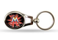 Miami Marlins Oval Keychain