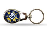 Tampa Bay Rays Oval Keychain