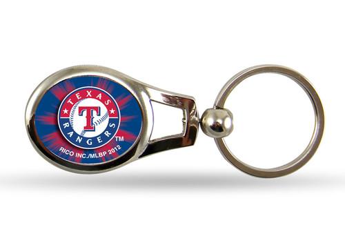 Texas Rangers Oval Keychain