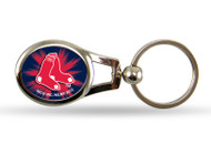 Boston Red Sox Oval Keychain