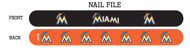 Miami Marlins Nail File