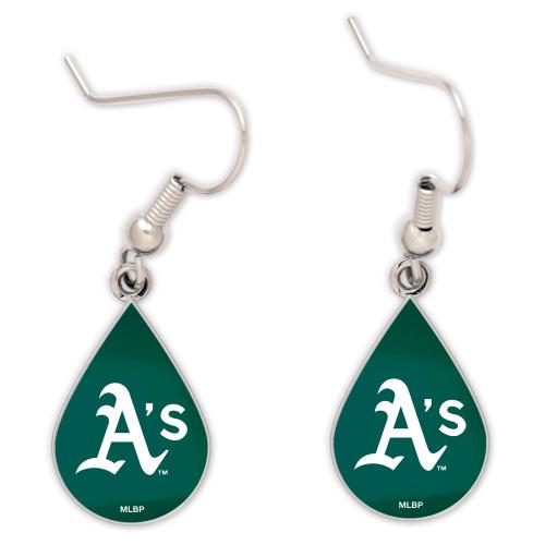 Oakland Athletics Tear Drop Earrings