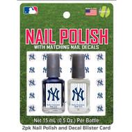 New York Yankees Nail Polish Team Colors and Nail Decals