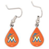 Miami Marlins Tear Drop Earrings