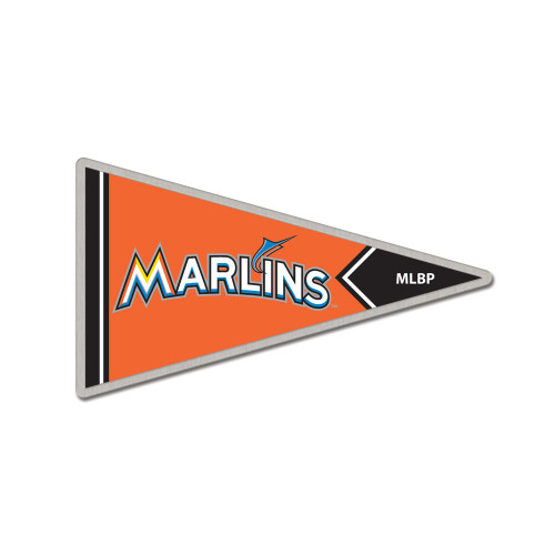 Miami Marlins Pennant Cloisonne Pin