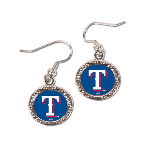 Texas Rangers Round Earrings