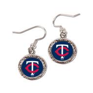 Minnesota Twins Round Earrings
