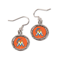 Miami Marlins Round Earrings