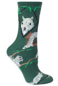 Squirrel Green Ladies Socks