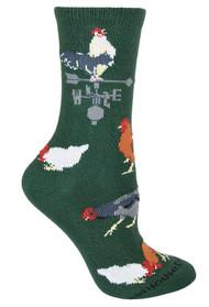 Rooster Green Ladies Socks