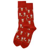 Sake Bomb Red Mens Crew Socks