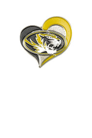 University of Missouri Swirl Heart Pin