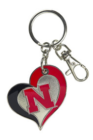 University of Nebraska Swirl Heart Keychain