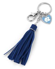 North Carolina Tassel Key Chain Purse Charm