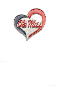 University of Mississippi Swirl Heart Pin