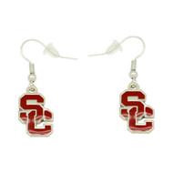 University Southern California USC Dangler Earrings