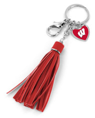 University Of Wisconsin Tassel Key Chain Purse Charm