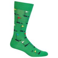 Golf Green Mens Crew Socks
