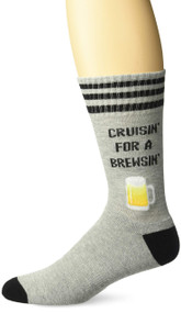 Beer Cruisin for a Brewsin Grey Mens Crew Socks