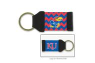University Of Kansas Chevron Keychain