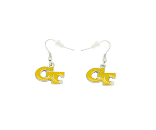 Georgia Tech  Dangler Earrings