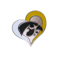 University of Iowa Swirl Heart Pin