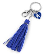 University of Kentucky Tassel Key Chain Purse Charm