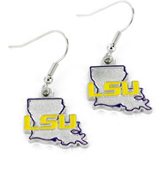 Louisiana State LSU Earrings - State Design