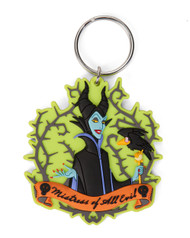 Maleficent with Crow Soft Touch PVC Keychain