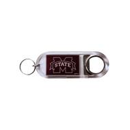 Mississippi State Lucite Bottle Opener Keychain