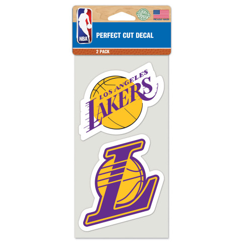 """Los Angeles Lakers 4""""x4"""" Logo Decal (2-Pack)"""