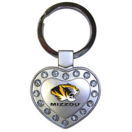 University of Missouri Metal Heart Keychain