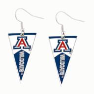 University of Arizona Pennant Earrings