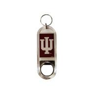 Indiana University Lucite Bottle Opener Keychain