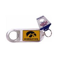 University of Iowa Lucite Bottle Opener Keychain