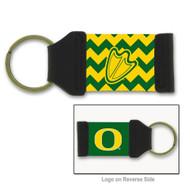 University of Oregon Chevron Keychain