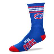 Chicago Cubs Large '4 Stripe' Deuce Socks
