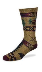 Cabin Blanket Motif Medium Socks