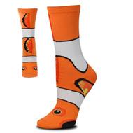 Clown Fish Sock Puppet Orange Medium Socks