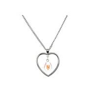 New York Mets Mini Baseball Heart Necklace
