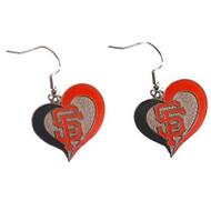 San Francisco Giants Swirl Heart Earrings