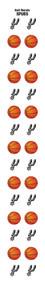 San Antonio Spurs Nail Sticker Decals