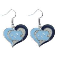 North Carolina Swirl Heart Earrings