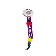 Louisiana State I Love LSU Bead Keychain