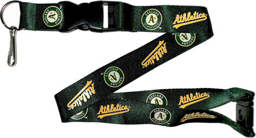Oakland Athletics Lanyard Keychain