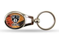 Brooklyn Nets Oval Keychain