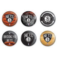 Brooklyn Nets Buttons 6-Pack