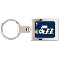 Utah Jazz Domed Metal Key Chain