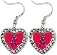 Los Angeles Angels Crystal Heart Earrings
