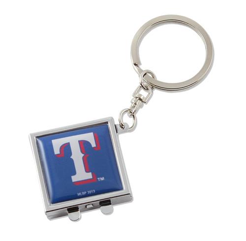 Texas Rangers Compact Mirror Keychain